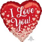 1x Foil Helium Balloon – I Love You