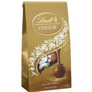 Lindt Lindor Chocolate Balls Assorted 125g Bag