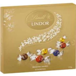 Lindt Lindor Chocolate Balls Assorted 150g Box